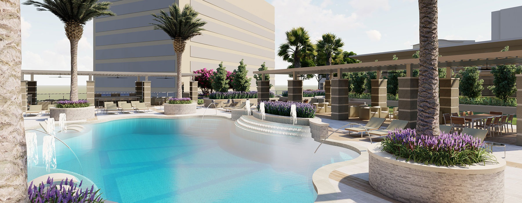 Resort-Style Pool with Tanning Ledge